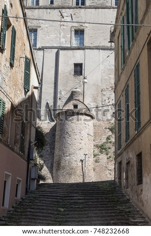 Jesi (Ancona, Marches, Italy): buildings in the historic town. #748232668