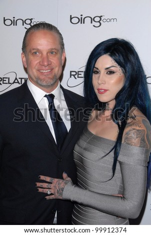 "Jesse James, Kat Von D at the 2011 Art Of Elysium ""Heaven"" Gala, Annenberg Bldg., California Science Center, Los Angeles, CA. 01-15-11"