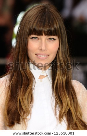 Jessica Biel arriving for the Total Recall Premiere, at Vue West End, Leicester Square, London. 16/08/2012 Picture by: Steve Vas