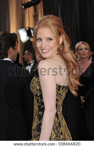 Jessica Chastain at the 84th Annual Academy Awards at the Hollywood & Highland Theatre, Hollywood. February 26, 2012  Los Angeles, CA Picture: Paul Smith / Featureflash