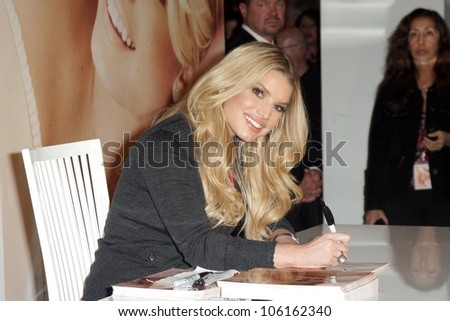 Jessica Simpson  at an in store appearance to launch her new fragrance 'Fancy'. Macy's South Coast Plaza, Costa Mesa, CA. 12-13-08 - stock photo