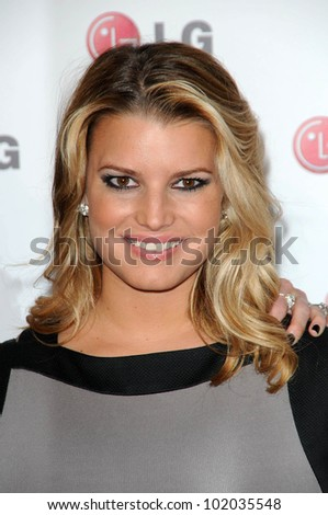 "Jessica Simpson at the LG ""Fashion Touch"" Party, Soho House, West Hollywood, CA. 05-24-10"