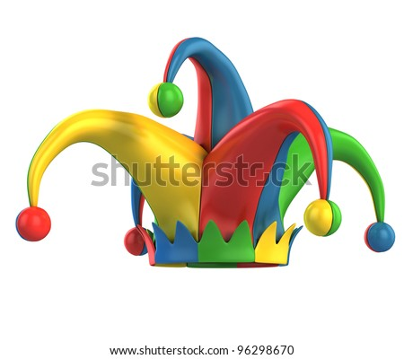 stock photo : jester hat isolated