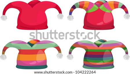 jester hat isolated illustration