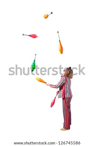 jester juggling with skittles
