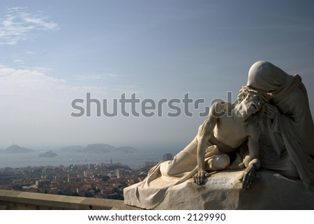 Jesus and Mary - Marseilles, France - stock photo
