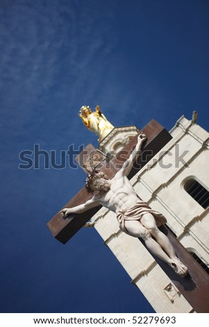 Jesus Christ Crucifixion at the Palais of the Popes at Avignon France.