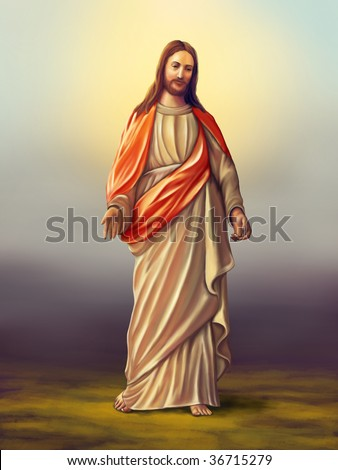Jesus Christ of Nazareth. Original digital illustration