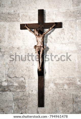 Jesus Christ On A Cross Catholic Symbol Ii Ez Canvas