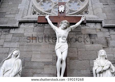 Jesus Christ on a crucifix.