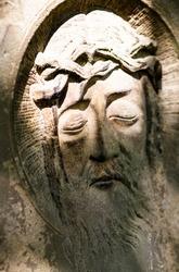 Jesus Christ sculpture in cemetery, Wschowa, Lubusz Voivodeship, Poland