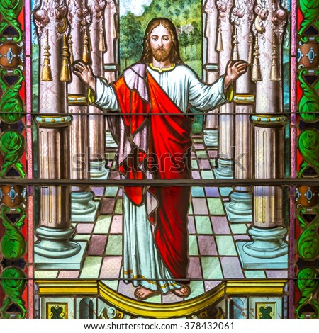 Jesus Christ stained glass