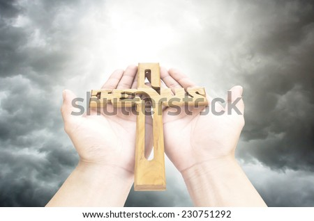 jesus Cross in hand