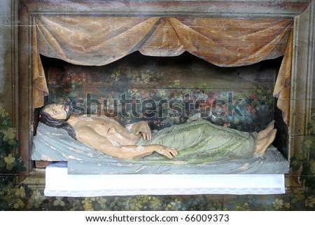 jesus tomb clipart. stock photo : Jesus is laid in
