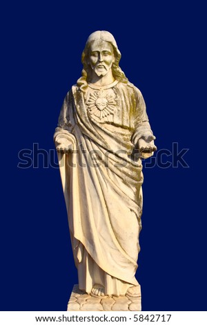 Jesus on blue background