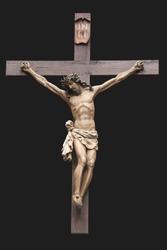 Jesus on the cross. Crucifixion. Monument.
