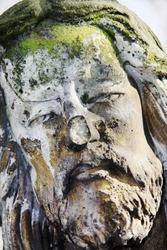 Jesus on the old Prague Cemetery, Czech Republic