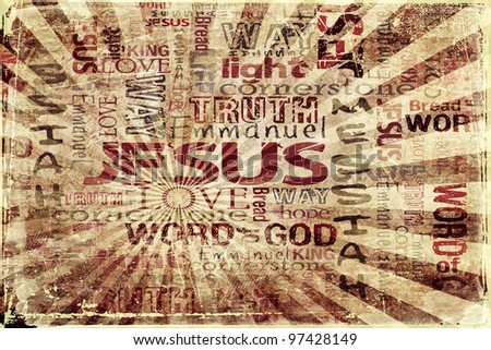 JESUS Religious Grunge Background