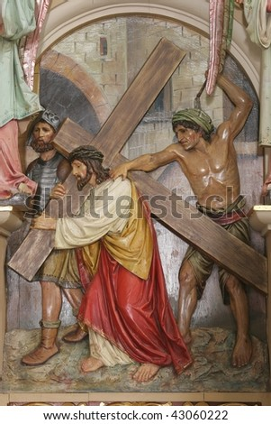 Jesus Takes Up His Cross