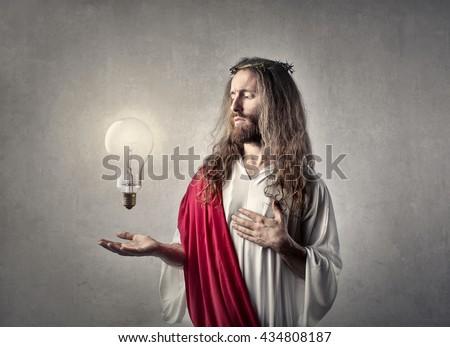 Jesus with laptop