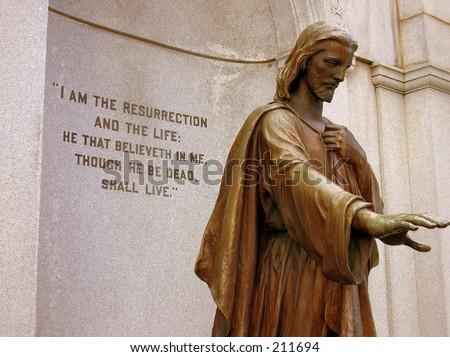 Jesus with scripture Foto stock ©