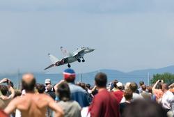jet aircraft at an airshow