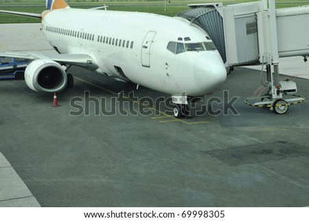 jet airplane aircraft repair and fuel tank