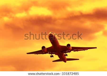 jet airplane in flight at...