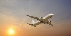 jet airplane takeoff in  sky