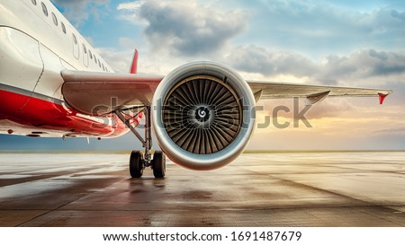 jet engine of an modern airliner Сток-фото ©