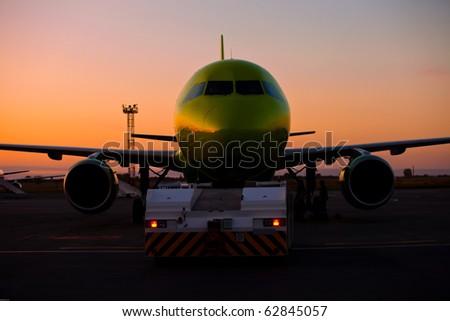 Jet plane stand on ground