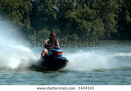 jet-ski fun on a day in summer