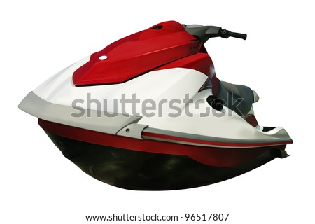 Jet-ski isolated on white background
