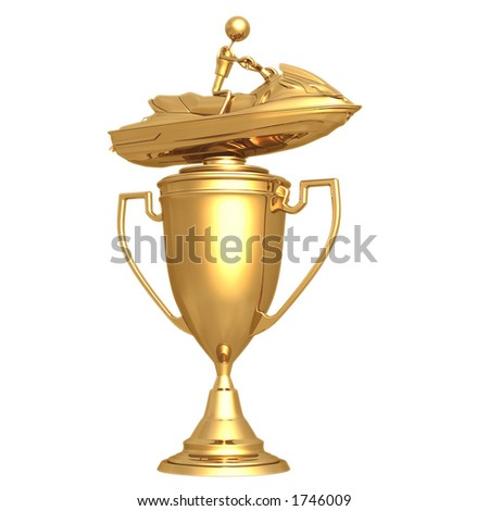 Jet Ski Trophy - stock photo