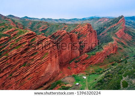 Jeti-Oguz gorge - one of the picturesque gorges in Kyrgyzstan #1396320224