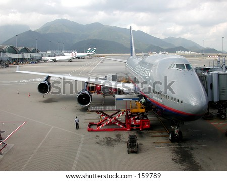 Jets on the Tarmac at Hong Kong's International Airport