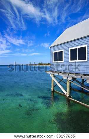 Jetty against beautiful Indian Ocean