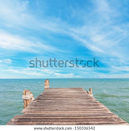 Jetty and beauty beach on daylight
