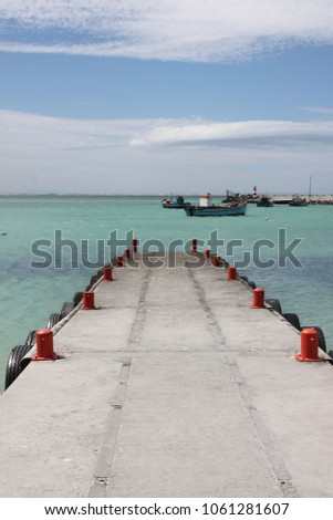 Jetty at seaside