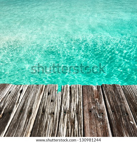 Jetty by the sea background