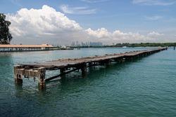 Jetty in St. John's Island, Singapore