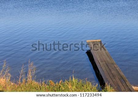 jetty in the lake