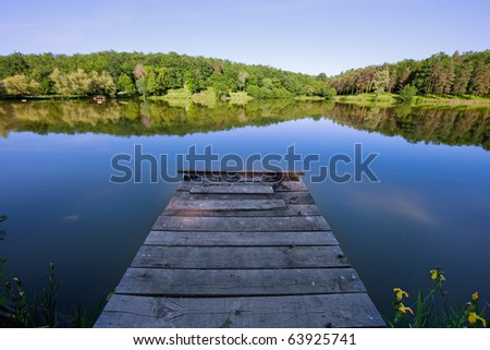 Jetty on a French lake