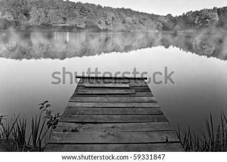 Jetty on a lake