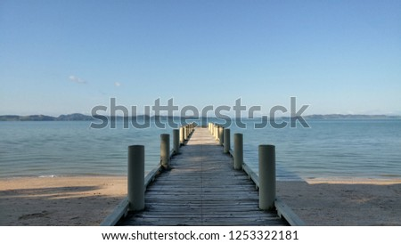 Jetty on the beach, Jetty to the sea #1253322181