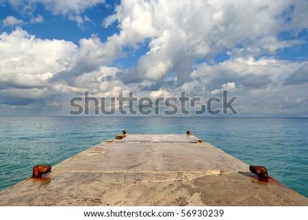 Jetty, sea and cloudscape