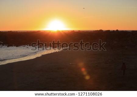 jetty sunset beach #1271108026