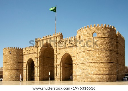 Jewel of Saudi Arabia: Jeddah, the old city Al Balad 05 2021 with its typical covered windows and Roshans (balconies) in wood for shade and fresh air and for the ladies to look out and not to be seen
