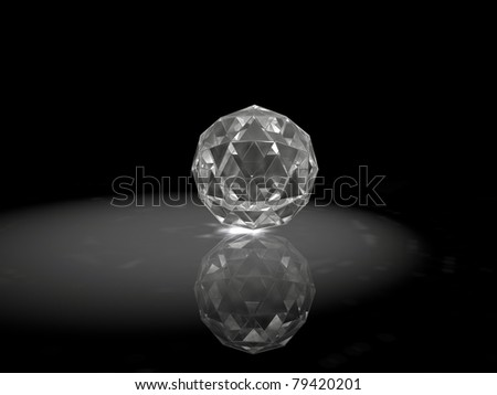 jewel with caustics effects - stock photo
