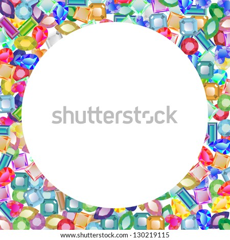 Jeweled Blank Circle for Text